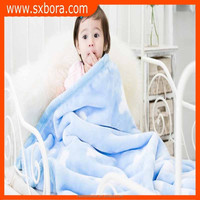 100% Ployester microfiber knitted cloud pattern extra soft baby fleece blanket,china factory wholesale blanket
