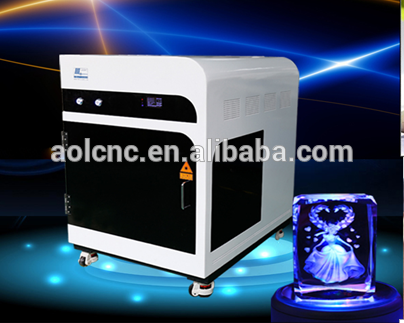AOL factory supply cheap 3d photo crystal laser crystal glass engraving machine price