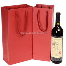 custom cheap paper shopping wine tote bag wholesale