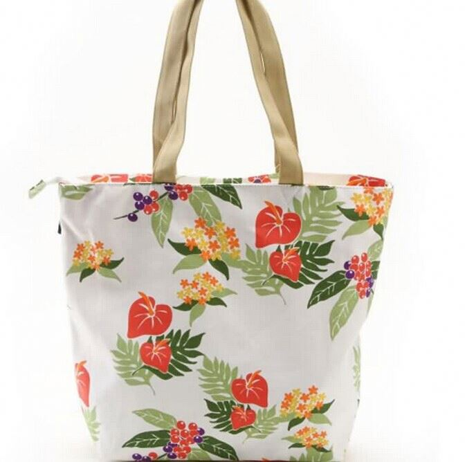 wholesale eco-friendly pvc coated cotton shopping bag