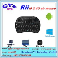 2.4G Mini Rii i8 Wireless Keyboard Remote Controller Air Mouse With Touchpad Keyboards for for tv box tablet mini pc smart box