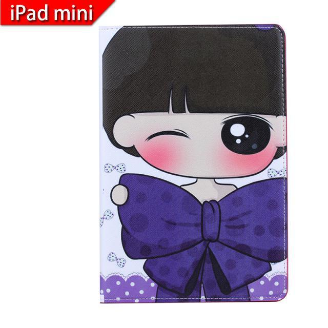 For iPad mini cute stand folio for girls use leather case