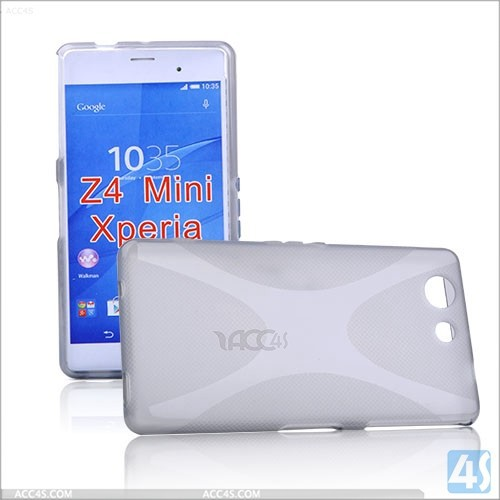 New durable X line wave tpu gel case mobile phone case for sony xperia z4 mini