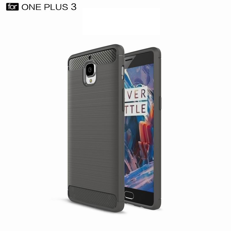 2016 Hot Sell Carbon Fiber Phone Cover for OnePlus 3 Brushed Case