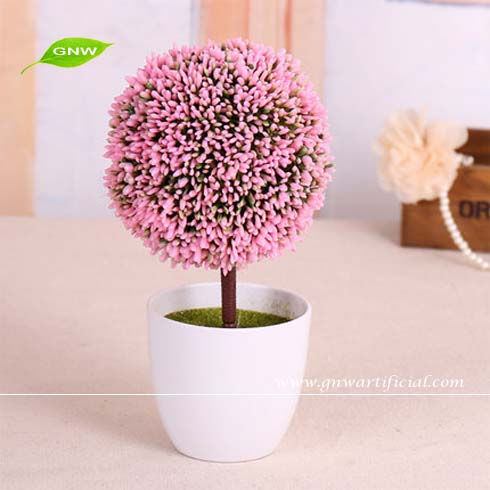 GNW GP024 Artificial Potted Plants Tropical flower plant grass ball indoor decorative