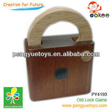 Wooden lock IQ puzzle game for adult