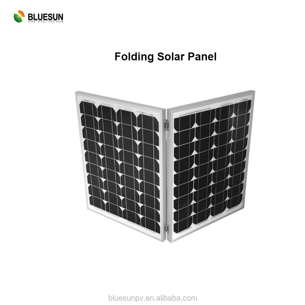 Bluesun factory supply Travel camping easy handle 80w folding solar panel