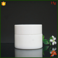High Quality 15g White Ceramic Glass Empty Cosmetic Jar With Screw Cap