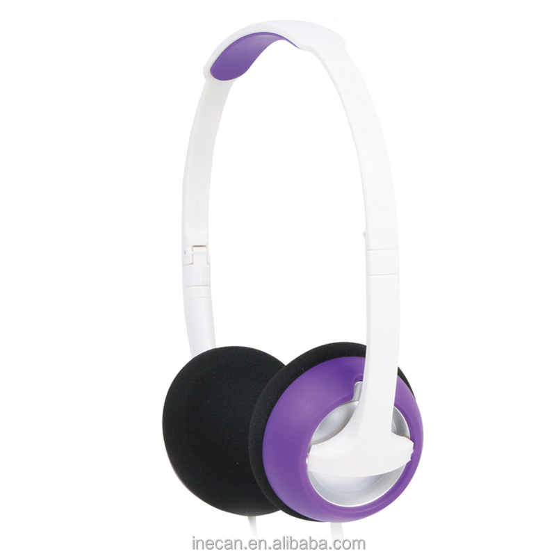 Fancy color lightweight stereo headphone