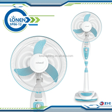 ZICLONEN 16 inch 18 SMD light solar rechargeable electric battery operated 12V dc stand fan