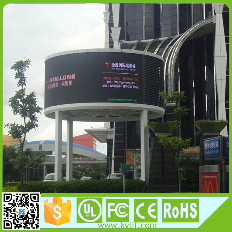 Super bright commercial full color p10 p8 round led display