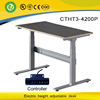 electrical control height adjustable desk frame adult student desk with two motors legs