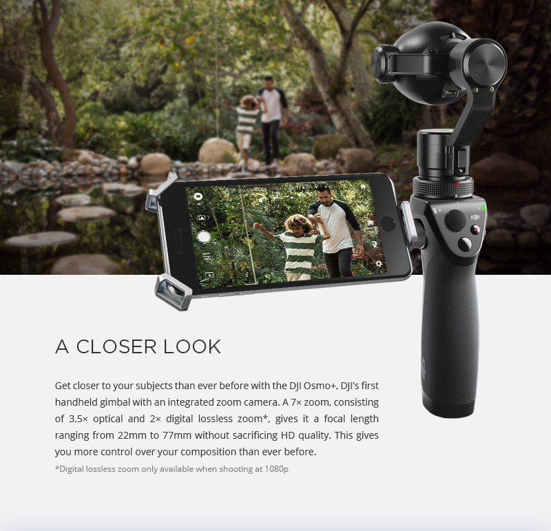 DJI OSMO plus handheld gimbal camera, DJI OSMO plus