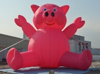 Hot selling giant inflatable pig air balloon with low price S2005