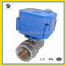 DC12V motorized electric valve with position indicator and manual override function for instead of solenoid valve