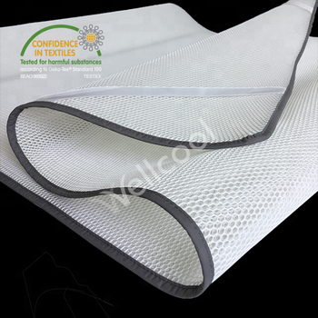 airflow foldable cooling 3d mesh fabric bed topper