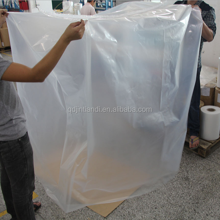 Qingdao JTD Manufacturer wholesale Ldpe Heat Shrink Wrap Reusable Pallet Cover Hood Bag