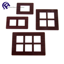 Silkscreen printing wall switch glass panel, Indian switch sockets