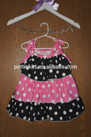 newest fabric and styles girl dot baby dress cutting