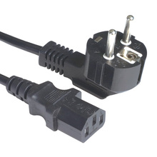 Europen computer power lead,power cord with male female plug,VDE Power cord