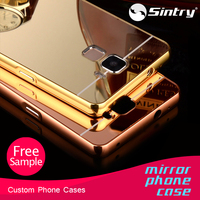 manufacturer cell phone cases manufacturer beauty case mirror light aluminum metal mirror case for samsung galaxy j7