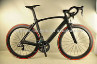 Beautiful black matt finish carbon bicycle aero road bike with 6770 DI2 groupset