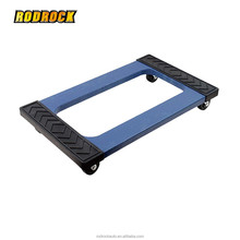1000lbs Capacity Heavy Duty Plastic Mover Dolly with Diamond Tread Rubber Pads