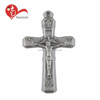 New style popular rosary parts jesus cross pendant with different image