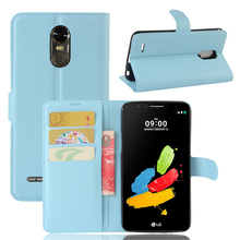 Smartphone accessories wallet leather back cover for LG stylo 3 stylus 3 case