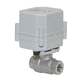 2 way ss304 motorized flow control ball valve
