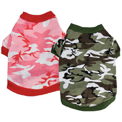 2016 New Arrival Camouflage Dog Shirts Clothes of Dog