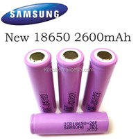 Distribution Authentic Samsung 18650 battery 3.7V 26F samsung icr18650-22e 2200mah 18650 li-ion battery