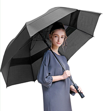 60 Inch Oversized Double Vented Canopy Auto Open Waterproof & Sunproof Extra large Stick Golf Umbrellas