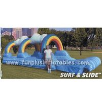 2014 China inflatable hot sale colorful cloud and rainbow slide F4127