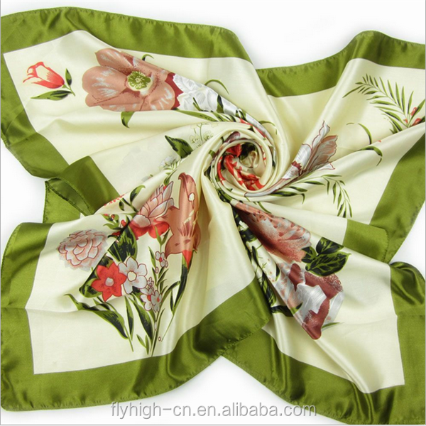 Factory price cheap gift silk chiffon custom printed scarf