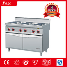 6 plate commercial restaurant equipment electric gas cooker