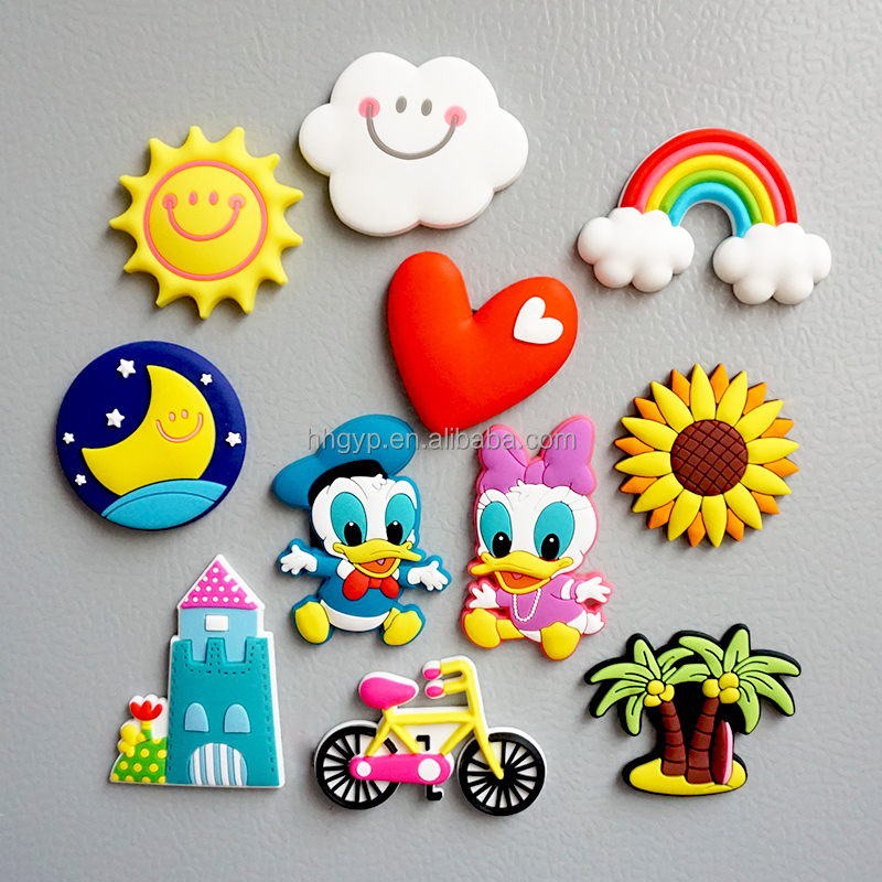 3d rainbow shape refrigerator magnets with stock mould