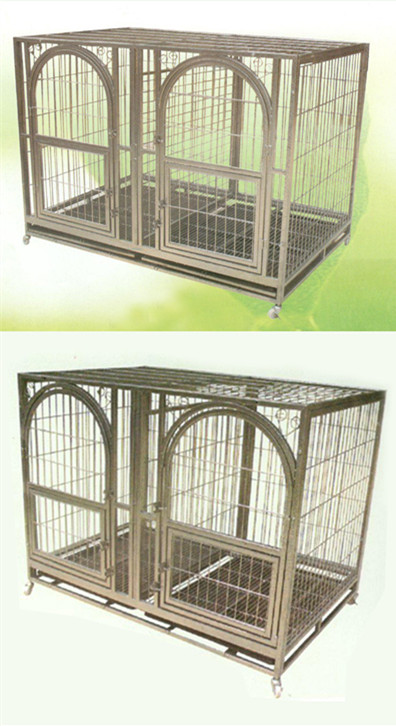 High Quality Stainless Steel Dog Kennel with Square Corner