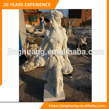 Beautiful Lady Statue White Marble Female Sculpture for Outdoor and Indoor Decoration