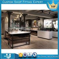 high end royal chorme jewelry shop counter design made in China