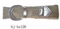 ladies' fashion braided belt with PU leather