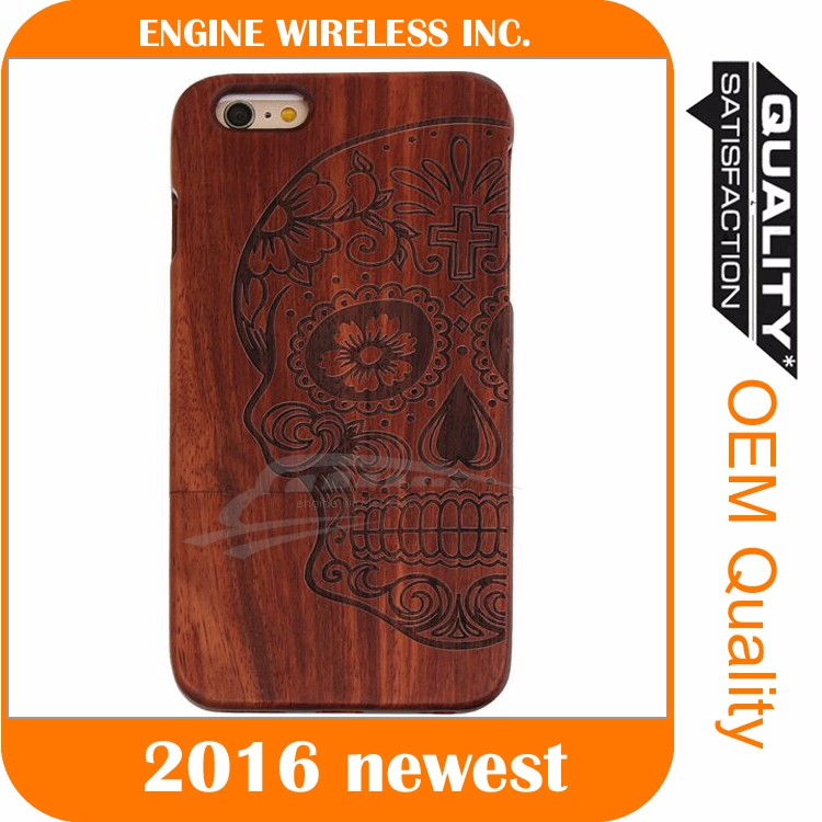 Guangzhou creative cell phone factory carving craft wooden phone case for Samsung S2 case