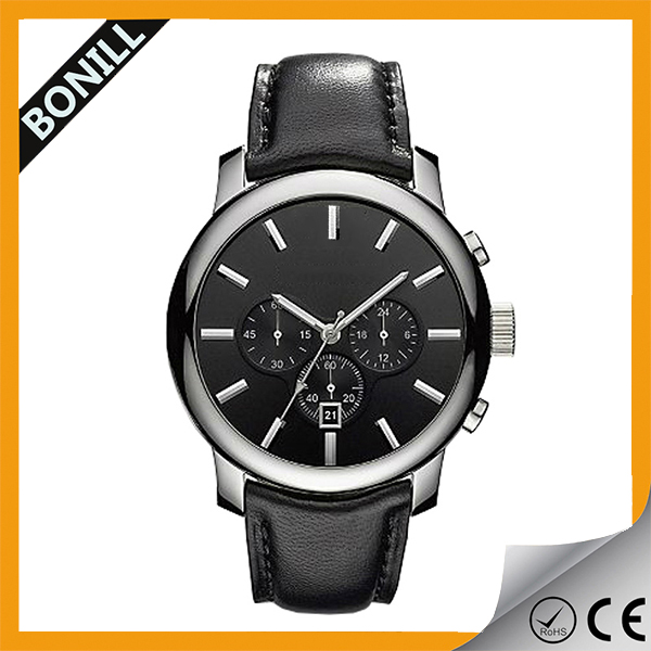 Build your watch brand easily man wholesale china watch made stainless steel case and back calendar function