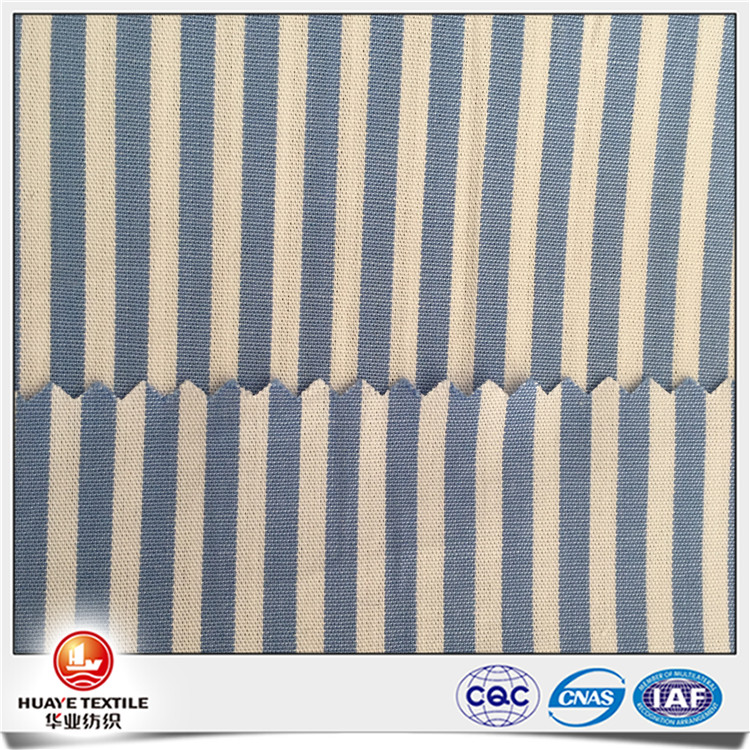 Hot sale wholesale yarn dyed 100 Cotton blue and white strip fabric for shirt
