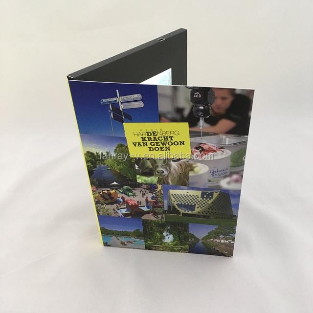 Et-digital 4.3 inch lcd video mailer/video brochure card custom printed gift promotional video card