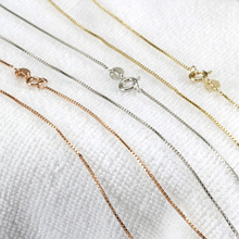 wholesale new fashion trendy white yellow rose gold925 sterling silver chain necklace jewelry