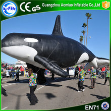 Hot sale inflatables inflatable blue whale giant inflatable whale for parade