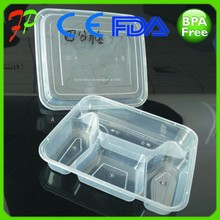 Disposable plastic meal packaging box,food container