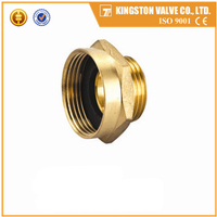 K708 brass reducing coupling with threads male and female high standard water pipe fittings