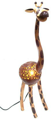 kokosnuss shell machen lampe gro es giraffe modell in handarbeit andere feiertagswaren produkt. Black Bedroom Furniture Sets. Home Design Ideas